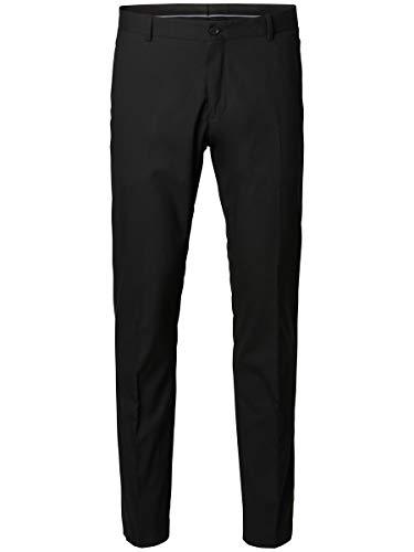 SELECTED HOMME Herren SHDNEWONE-MYLOLOGAN1 Trouser NOOS Anzughose, Schwarz (Black), 52