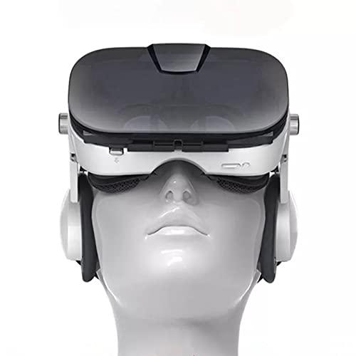 HTYQ Gafas De Realidad Virtual Audiovisuales, Auriculares De Realidad Virtual para Juegos En 3D para Teléfonos Inteligentes De 4.0 A 6.4 Pulgadas, Gafas De VR Auriculares Estéreo Soporte 800 Miopía