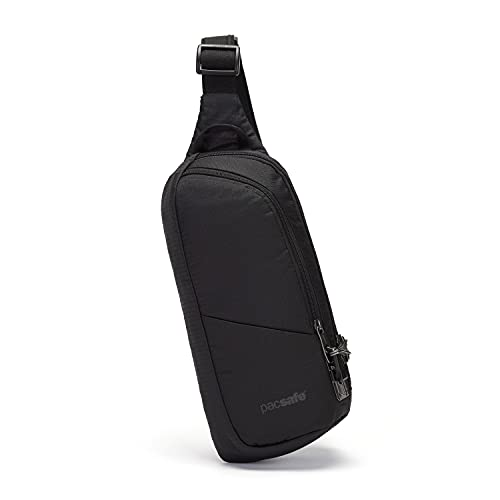 Pacsafe Unisex Vibe 150 Anti Theft Jet Black Umhängetasche, 2.2 Liter