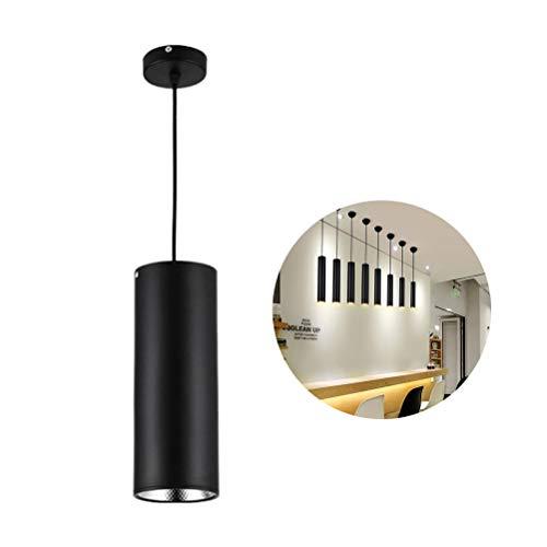 OSALADI 3W 85-265V 60 mm Diámetro 200 mm LED COB techo Spotlight tubo lámpara colgante lámpara de techo empotrable para dormitorio, bar, café (negro)
