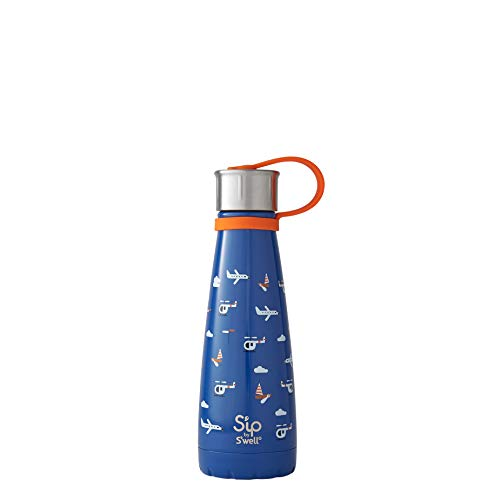 S'ip by S'well Stainless Steel Water Bottle - 10 Fl Oz - Bon Voyage - Double-Layered Vacuum-Insulated Keeps Food and Drinks Cold and Hot - with No Condensation - BPA Free Water Bottle
