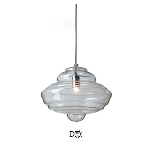 WINZSC Moderne Minimaliste Design Pendentif Lampes en Forme de Verre spécial café Restaurant Bar Salon Pendentif lumière ZA9074 (Size : D)