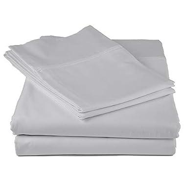 Peru Pima - 600 Thread Count - 100% Peruvian Pima Cotton - Sateen - Bed Sheet Set - King, Slate