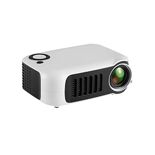 ZZLYY Beamer, 6000 lux, projector 1080p Full HD, ondersteunt draagbare projector, 30000 uur multimedia LED-projector, compatibel met PC/Mac/DVD/TV/Xbox/Film/Spelen/Smartphone