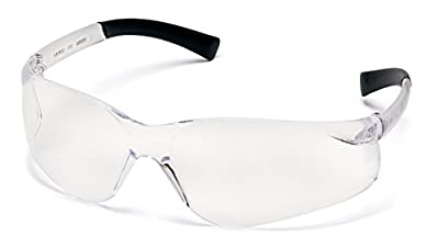Pyramex Safety Products S2510ST Ztek Safety Glasses, Clear Anti-Fog Lens with Clear Temples, Clear