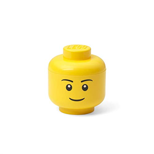 Room Copenhagen 40331724 Rangement Lego Mini en Forme de tête, Garcon, Polypropylène