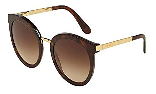 Dolce & Gabbana 0DG4268 502/13 52 Occhiali da Sole, Nero (Black/Gradient), Donna