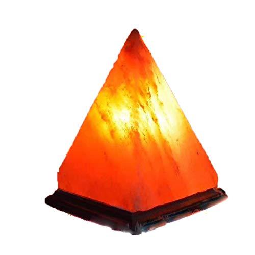 Zunruishop Zoutlamp slaapkamerlamp Rock Salt Nachtlampje Launcher negatieve ionen verstelbaar bergkristal handgesneden + houten sokkel