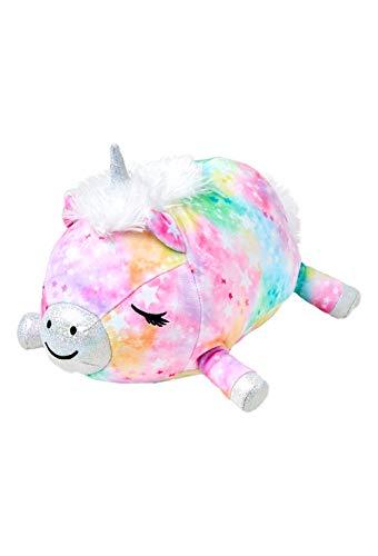 Justice Unicorn Stuffed Animal for Girls - Mini Luna the Unicorn Plush Pillow 10' Long - Cute and Squishy Soft Plush Stuffed Animal for Bedroom Plushie and Travel Pillow