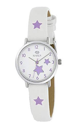 Marea B41273/6 Reloj Niña y Pulsera Plata Comunión Cuarzo Acero Estrellas Tamaño 26 mm
