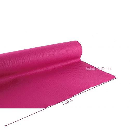 Lealoo Rouleau Nappe Framboise Non-tissé, dim.1.20 x 10 m, Effet Tissu Rose Airlaid pour Mariage cérémonie