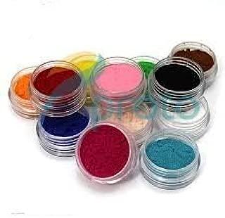 12 Color Nail Art Velvet Flocking Powder Kit Decoration Polish Tips Manicure