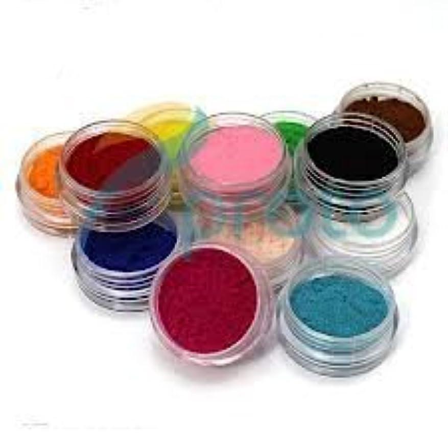更新する花火弾丸12 Color Nail Art Velvet Flocking Powder Kit Decoration Polish Tips Manicure