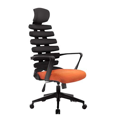npcs Silla ergonómica para videojuegos, silla de oficina de protección, columna vertebral, hueso de pescado, silla de ordenador para el hogar, silla giratoria simple y moderna (color: E)