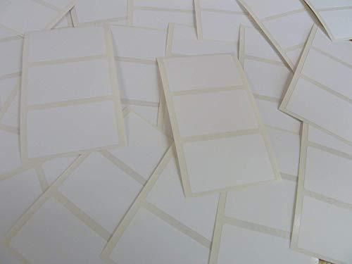 Pack 69, 43x25mm Rechteckig, Kunststoff Weiß Etikett, Permanente Haftung Rechtecke, Klebend Langlebig Poly Wasserfest Aufkleber