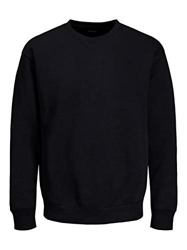 JACK & JONES Jjesoft Sweat Crew Neck Noos Felpa, Nero (Blackblack), Medium Uomo