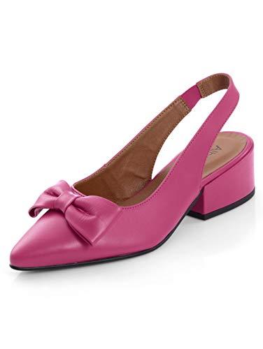 Alba Moda Slingpumps aus hochwertigem Ziegenleder Pink