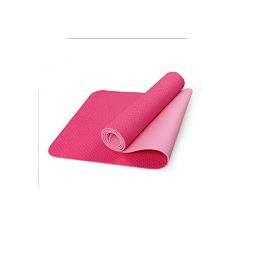 Big Incisors-CA Tapis de Yoga antidérapant | 1830 * 610 * 6MM Tapis de Yoga Tapis antidérapant pour Tapis de Gymnastique pour débutants Fitness Fitness Tapis d'exercice Gym-Vert-