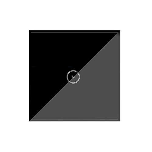 Wi-Fi Smart Lichtschalter, Jinvoo Intelligent Touch-Schalter, APP-Fernbedienung, Sprachsteuerung, Brauchen Neutral, Kompatibel mit Alexa/Google Home, Unterstützt von Tuya, Schwarz (1 Gang)