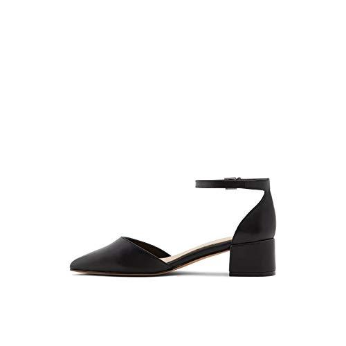 ALDO Women's Zulian Block Heel Pump, Black Other, 7