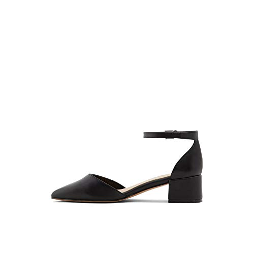ALDO Women's Zulian Block Heel Pump, Black Other, 8 B US