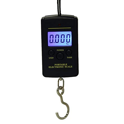 YAeele 40kg x 10g Mini Digital Scale for Fishing Luggage Travel Weighting Steelyard Hanging Electronic Hook Scale, Kitchen Weight Tool (Color : With Backlight)