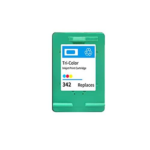 Toner Compatible para HP 336 HP 342 Reemplazo de Cartucho para Deskjet 5420 5432 5440 5442 5443 OfficeJet 6300 6310 6310xi Tinta de Tinta de la Impresora, orientado Color