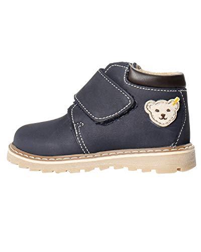 Steiff Knopf im Ohr - Kinder Leder Schuhe für Jungs blau Schnürschuhe, Farbe:Blau, Größe:EUR 26