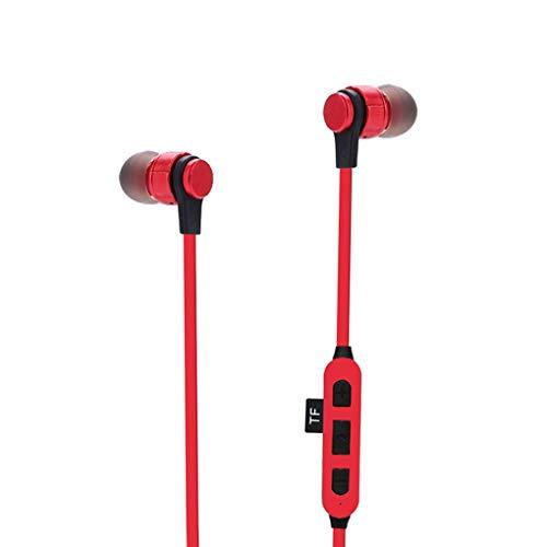 Dayertiy Wireless Earbuds TF SD-Karten-Slot Bluetooth Ohrhörer 4.2 In-Ohr-Kopfhörer Sport Kopfhörer Ersatz für rot