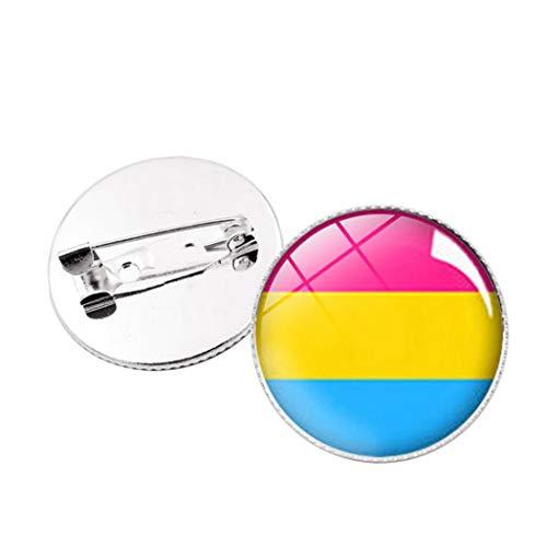 Regenbogen Homosexuell Pride Flag Mini Button 1' Runde Mini Button Regenbogen-Flaggen-Abzeichen Krawatte Tack Dekoration Für Kleidung Und Taschen