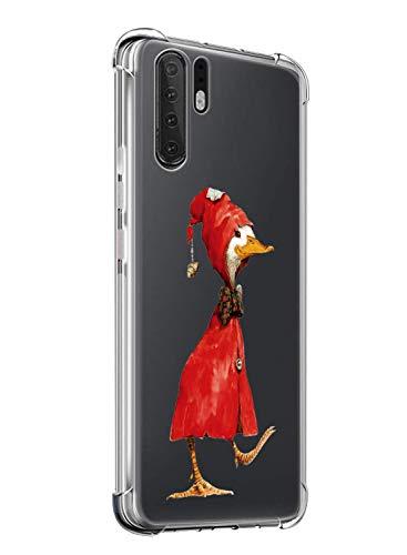 Suhctup Compatible pour Huawei Mate 20X/Mate 20X 5G Coque Silicone Transparent avec Clear Motif Mignon Animal Design Étui Housse Coussin d'Air Souple Doux TPU Anti-Choc Protection Cover,Canard