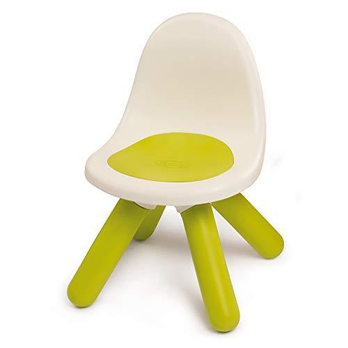 Smoby - Kid Stuhl Grün – Design Kinderstuhl für Kinder ab 18 Monaten, für Innen und Außen, Kunststoff, ideal für Garten, Terrasse, Kinderzimmer