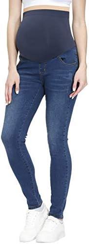 HOFISH Women s Maternity Jeans Over The Belly Maternity Jeggings Preggo Leggings Denim Pants product image
