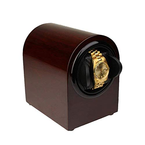 Horloge Gift Winder Winder Boxen Piano Verf Houten Draaitafel Heren Box Spin Box Single Table Chord Winder (Kleur : ROOD), Kleurnaam: Zwart
