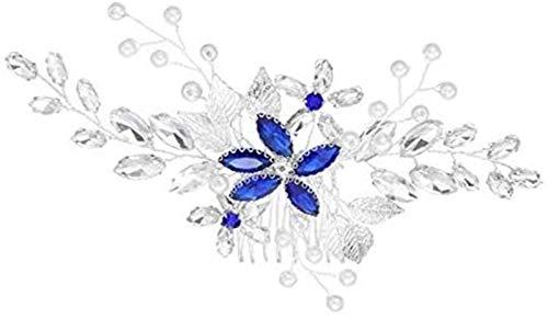 KEEBON Wehgeg Hochzeit Haarschmuck Haarstücke Kamm für Bräute Braut Silber Vintage Kopf Kristall