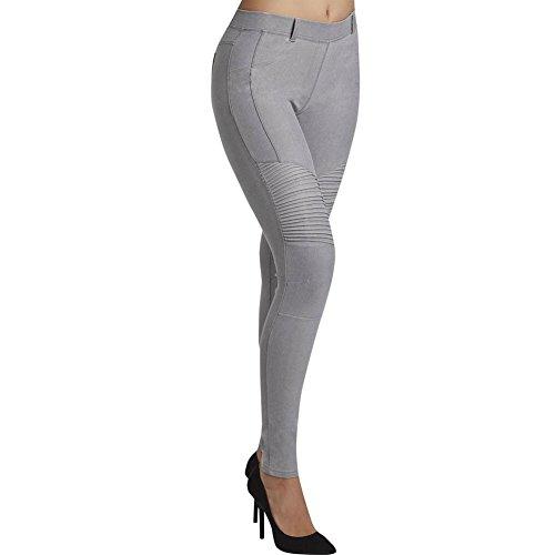 YSABEL MORA - Pantalon Pitillo Push-UP Mujer Color: Negro Jeans Talla: x-Large