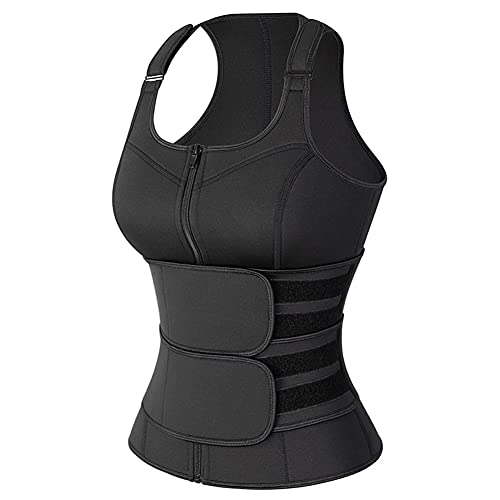 LKYBOA Waist Trainer Vest Overbust Corsets for Women Weight Loss Body Shaper Workout Tank Tops Sauna Sweat Shirt Fat Burner (Color : Style Three, Size : XX-Large)