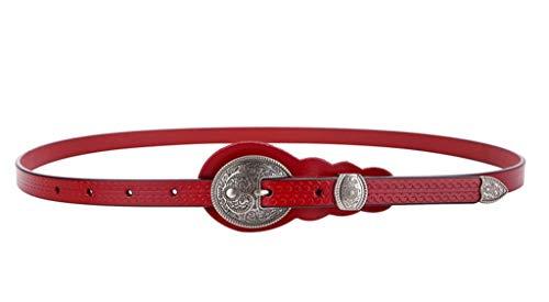 Cintura Casual Ideale per jeans Gonna da donna fine vintage decorativa con abito fashion annodato 105 cm rosso
