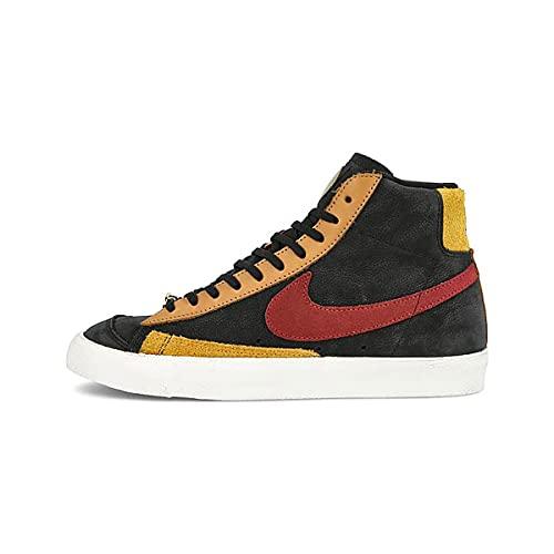 Nike Blazer Mid Scarpe da Ginnastica Sneakers Uomo Alte in Pelle Nera Sportive