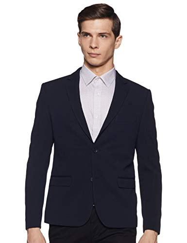 United Colors of Benetton Men's Notch Lapel Regular fit Blazer (19A2FSIC3041I_901_M_Navy_M)