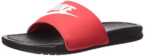 Nike Men's Benassi Just Do It Slide Sandal, Black/White-University Red, 7 Regular US