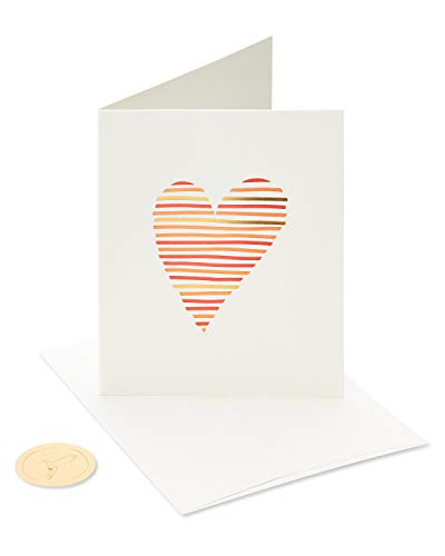 Papyrus Blank Card for Wedding, Anniversary, Friendship (Heart)
