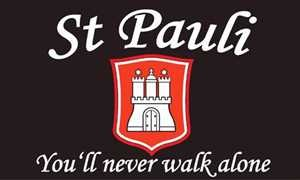 St.Pauli you´ll never walk allone Fussball Fahne Flagge Grösse 1,50x0,90m