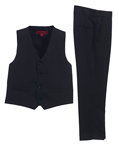2 Piece Kids Boys Black Vest and Pants Formal Set, 7