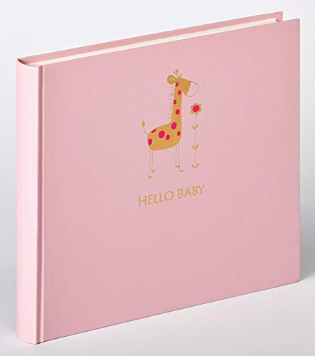 walther design UK-148-R Babyalbum Baby Animal, Rosa, 25x28 cm
