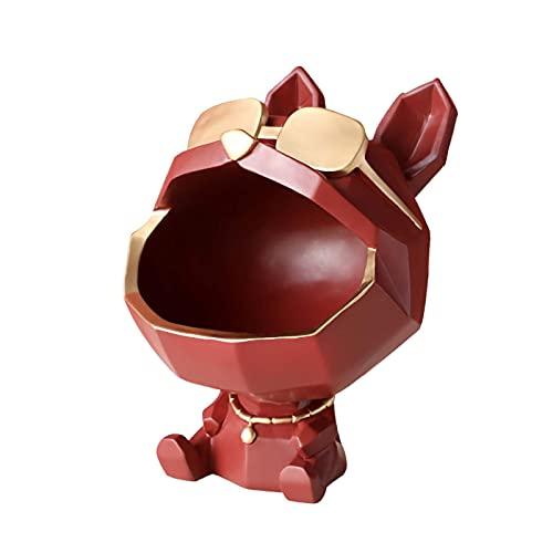 Caja Almacenamiento Gran Estatua Bulldog FrancéS Cajas JoyeríA Abstractos Animal Perro Resina DecoracióN Bandeja Superficie GeoméTrica Escultura Escritorio Figruilla, Red