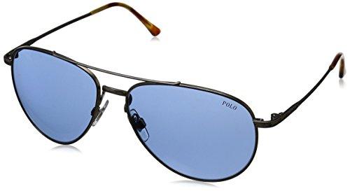 Polo Ralph Lauren heren PH3094 zonnebril, zilver (zilver 929172), één maat (fabrikantmaat: 59)