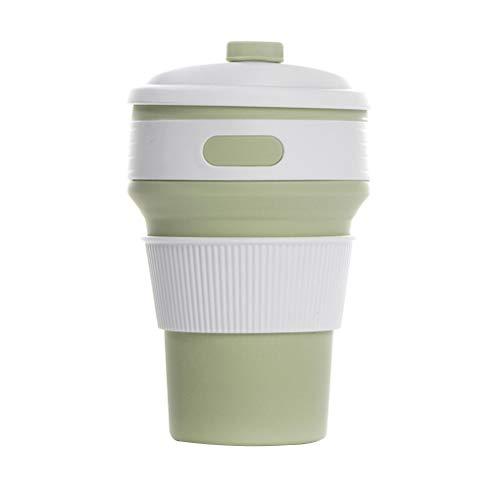 Yihaifu 350ml tragbaren Reise-Kaffee-Tee-Schalen-Silikon-Folding Tasse Reise Kaffeetasse Cups zusammenklappbare Trinkbecher Außen Sport-Wasser-Cup