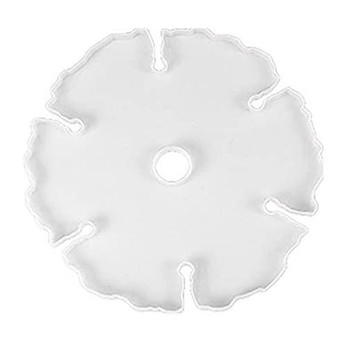 Estante de vino molde de silicona flor en forma de abanico DIY decoración del hogar soporte de vidrio molde de resina molde de raqueta de copa de vino