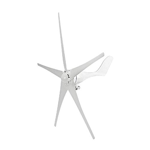IRONWALLS Wind Turbine Windmill Power Generator Kit 500W DC 12V 5 Blade with Controller White for Home Business Industrial Energy